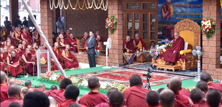 达赖喇嘛尊者为哲蚌洛色林禅修与科学中心开光揭幕
