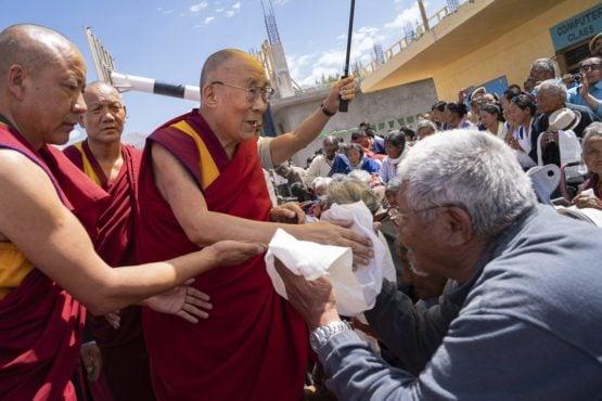 达赖喇嘛尊者莅临列城索朗林藏人定居点 2018年8月1日 照片/Tenzin Choejor/OHHDL