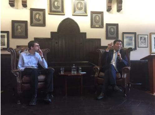 藏人行政中央司政洛桑森格格在剑桥联盟发表演讲