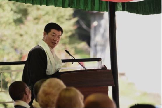 藏人行政中央司政洛桑森格在西藏儿童村学校建校59周年庆祝活动上致辞 2019年10月23日 照片/Tenzin Pheden/CTA