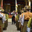 西藏歌舞戏剧学院的学员们在演奏西藏国歌 2020年3月10日 照片/Tenzin Phende/CTA
