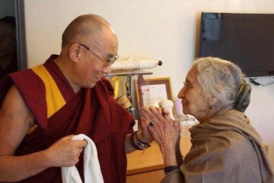 达赖喇嘛尊者与瓦茨亚杨女士在印度新德里进行会晤 照片/资料图片