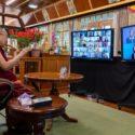 """达赖喇嘛尊者透过视讯直播发表""""教育心智""""为主题的演讲"""