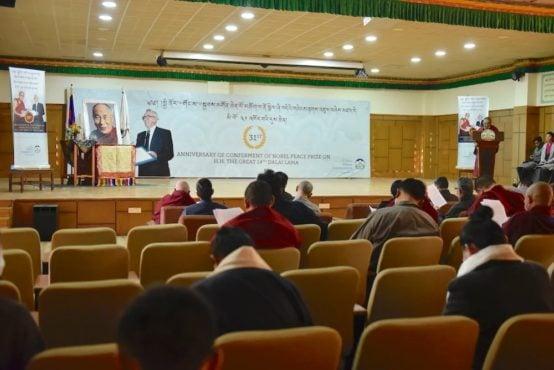 藏人行政中央在印度北部达兰萨拉举办官方庆典活动庆祝西藏精神领袖达赖喇嘛尊者荣获诺贝尔和平奖三十一周年 2020年12月0日 摄影/Tenzin Jigme/CTA